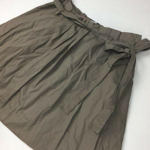💥J. Crew Pleated Skirt Cotton Bow Beige 10 Medium